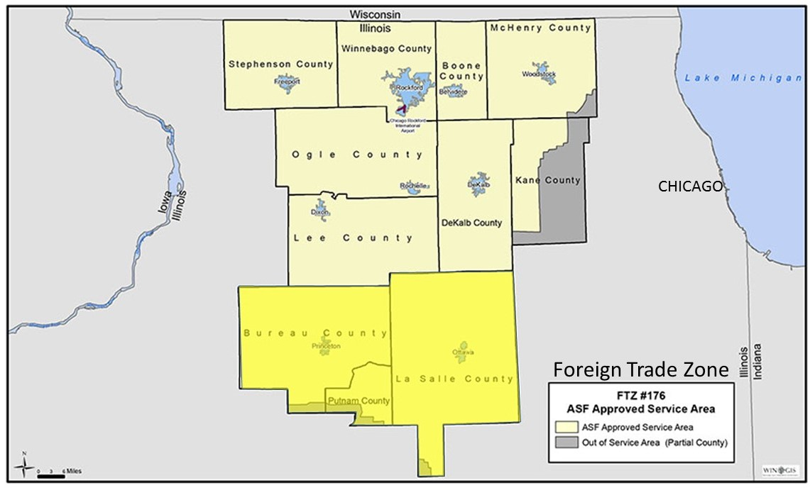 Foreign Trade Zone Map