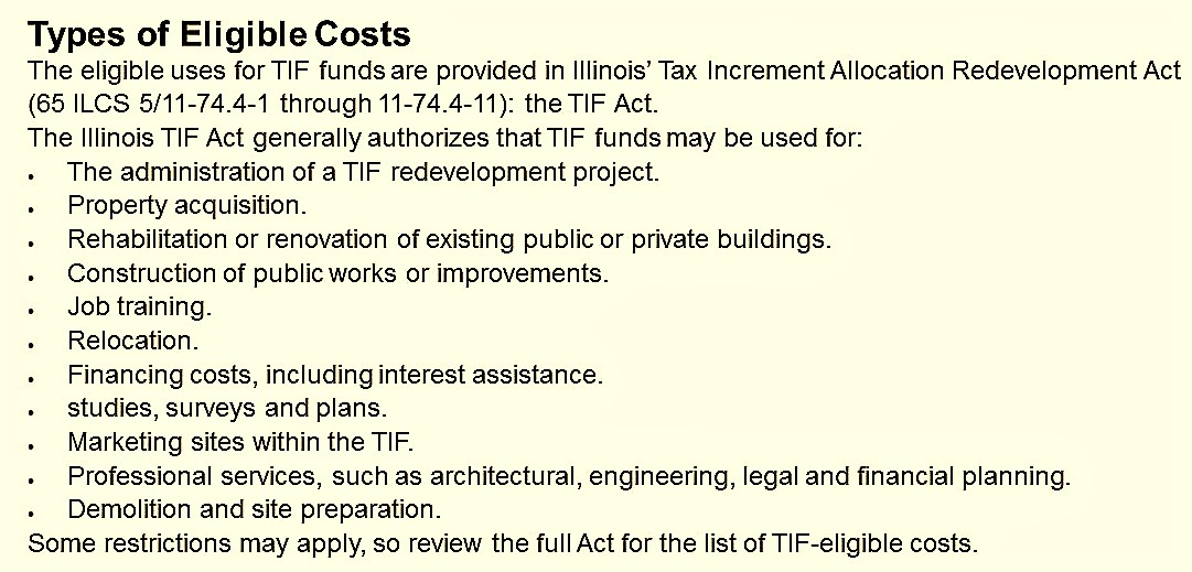 tif (tax increment financing) project in oak lawn essay Become a member, join the itia find information about our organization, learn how tax increment financing (tif) works, the illinois communities that are effectively using tif and for what purposes, find the latest information concerning tif in illinois, and be linked to numberous resources useful for those implementing tif projects or simply.