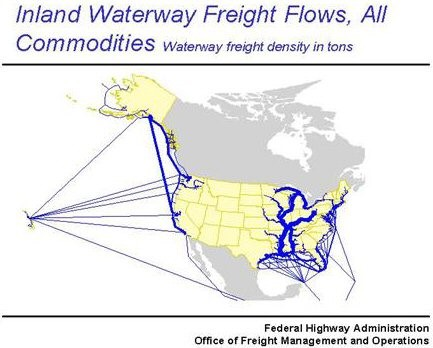 Inland Waterway Freight, All Commodities