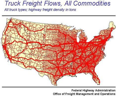 Truck Freight Flows All commodities