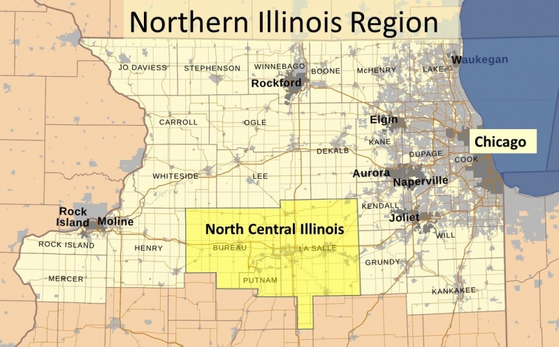 Northern Illinois Region Map